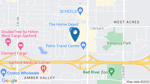 Holiday Inn Express Fargo SW - I-94 Medical Center Map