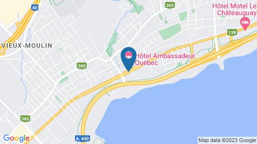 N Hôtel Québec Map