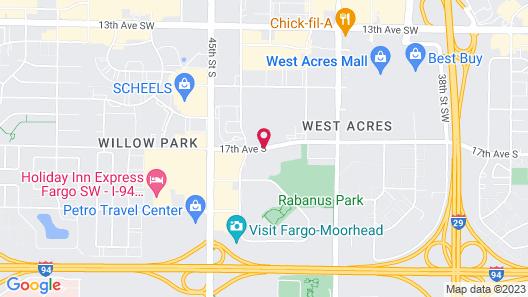 Hilton Garden Inn Fargo Map