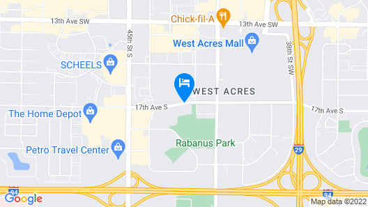 Expressway Suites Fargo Map