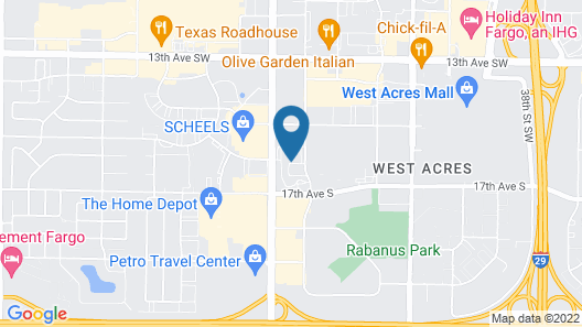 ClubHouse Hotel & Suites - Fargo Map