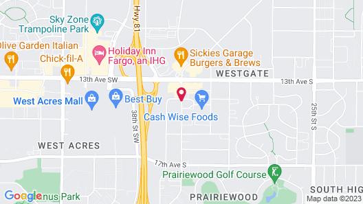Grand Inn Fargo Map
