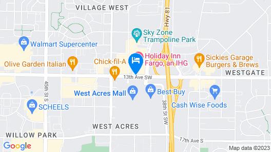 Holiday Inn Fargo Map