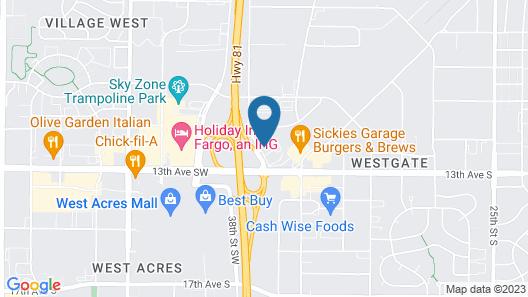 Motel 6 Fargo, ND - West Acres - North Fargo Map