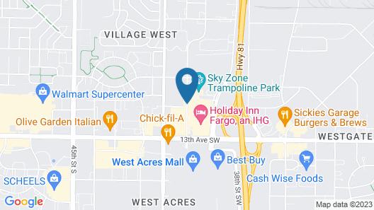 Holiday Inn Express Fargo-West Acres Map
