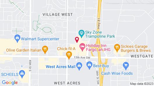 Holiday Inn Express Fargo-West Acres, an IHG Hotel Map