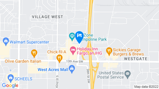 Fargo Inn and Suites Map