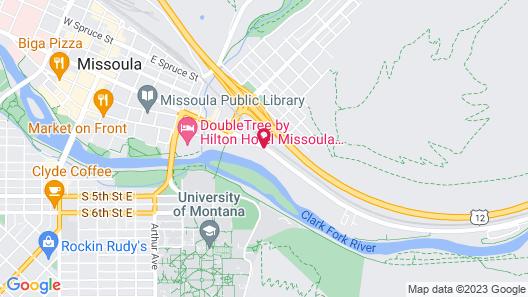 Comfort Inn University Map