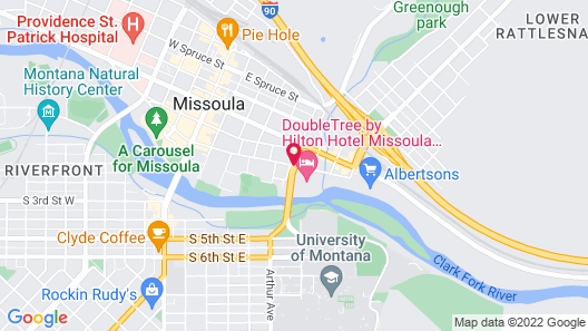 DoubleTree by Hilton Hotel Missoula - Edgewater Map