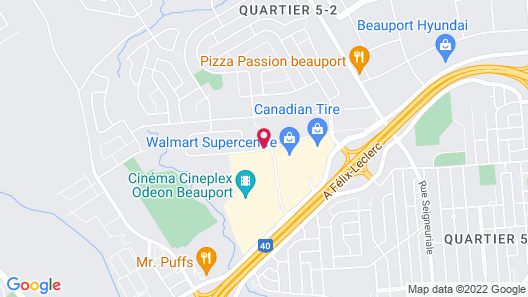 Hampton Inn & Suites Beauport Map