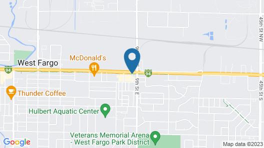 Super 8 by Wyndham West Fargo Main Ave ND Map