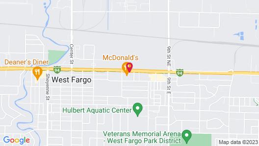 Howard Johnson by Wyndham West Fargo Map