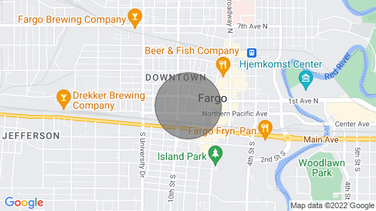 Penthouse in the Heart of Downtown Fargo With Private Rooftop Patio Map