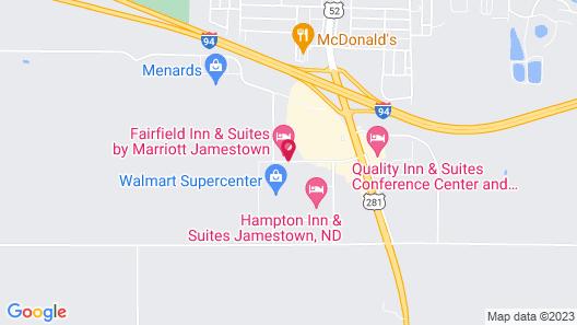 Fairfield Inn & Suites Jamestown Map