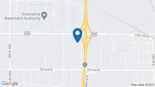 Super 8 by Wyndham Fargo Airport Map