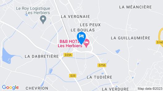 Ibis Les Herbiers Map
