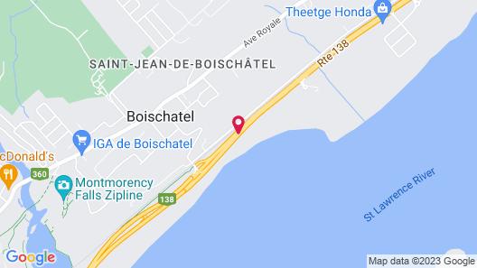 Sleep Inn & Suites Quebec City East Map