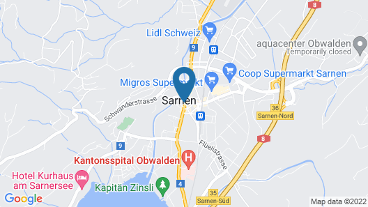 Hotel Restaurant Metzgern Map