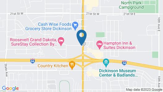 AmericInn by Wyndham Dickinson Map