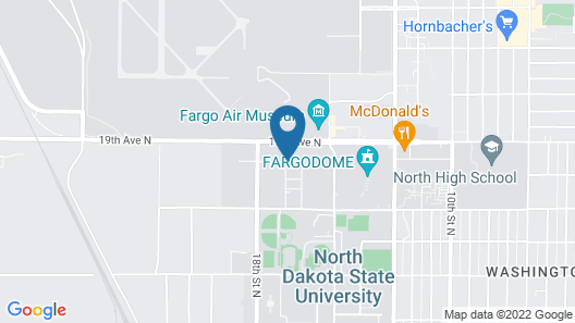 Candlewood Suites Fargo-N. Dakota State University, an IHG Hotel Map