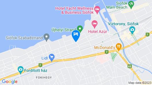 Residence Hotel Balaton Map