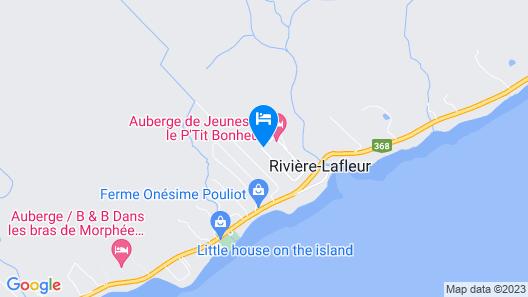 Auberge Le P'tit Bonheur Map
