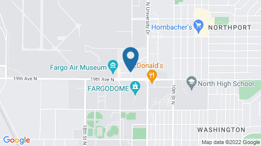 Days Inn & Suites by Wyndham Fargo 19th Ave/Airport Dome Map