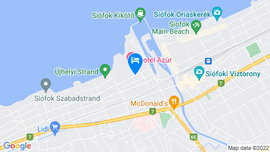 Hotel Azúr Prémium Map