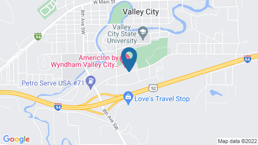 AmericInn by Wyndham Valley City - Conference Center Map