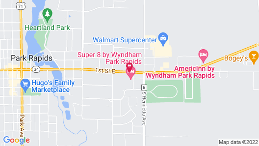 Super 8 by Wyndham Park Rapids Map