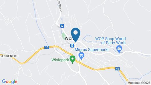 Hotel Restaurant Löwen Worb Map