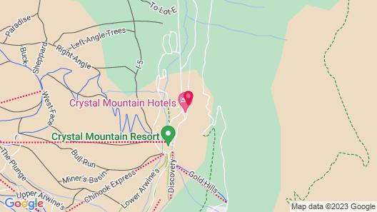 Crystal Chalets Condominiums at Crystal Mountain Ski Resort Map