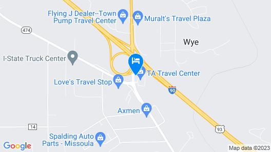 Motel 6 Missoula, MT - Wye - Travel Plaza Map