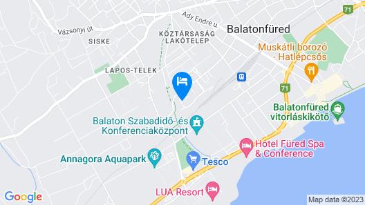 Levendula Apartman Map