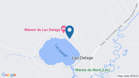 Manoir du Lac Delage Map