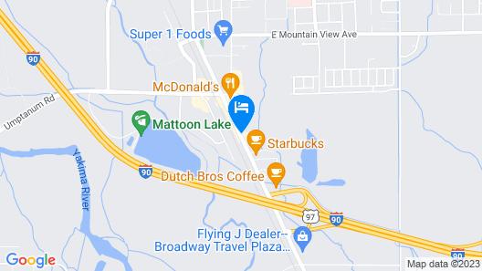 SureStay Hotel by Best Western Ellensburg Map