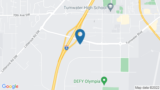 Comfort Inn Conference Center Tumwater - Olympia Map