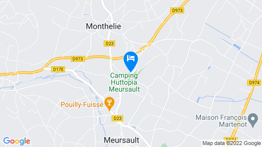 Hôtel Les Hauts de Meursault Map