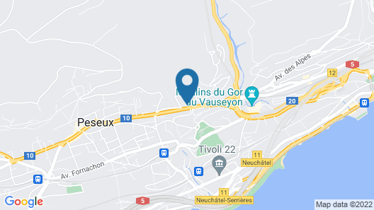 Studio in Neuchâtel, With Terrace and Wifi Map