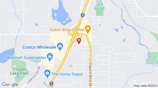Motel 6 Tumwater, WA - Olympia Map