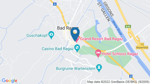 Palais Bad Ragaz Map