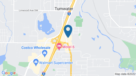 Best Western Tumwater-Olympia Inn Map