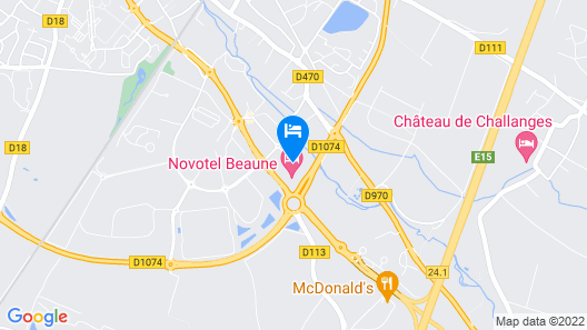 Novotel Beaune Map