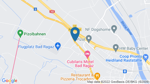 Cubilaris Motel Bad Ragaz Map
