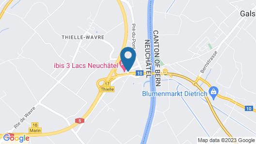 Ibis 3 Lacs Neuchatel Hotel Map