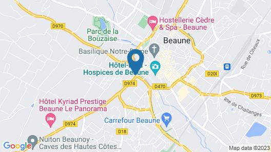 Najeti Hôtel de la Poste Map