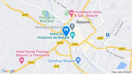Hôtel Le Cep Map