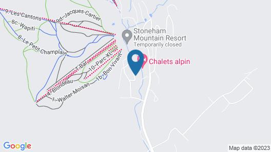 Le Panaché-Chalet à louer Stoneham Map