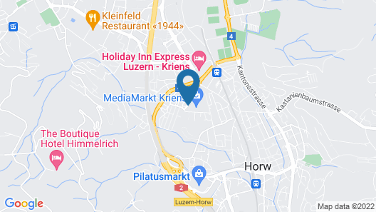 ibis Luzern Kriens Map