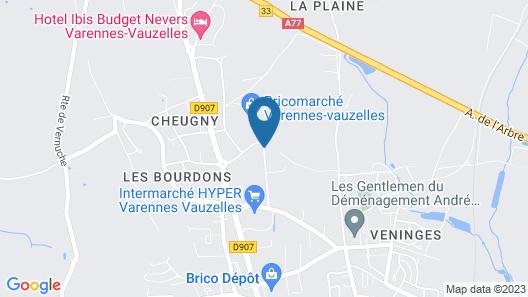 Hotel Première Classe Nevers - Varennes Vauzelles Map